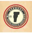 Vintage label-sticker cards of Vermont vector image
