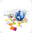 World with abstract futuristic graphic template vector image