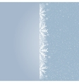 Winter snowfall snow falling Snowflake Card vector image