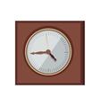 Wall Clock in Flat Design vector image
