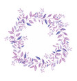 floral wreath isolated on white background vector image