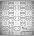flower monochrome lattice vintage geometric vector image
