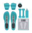 fitness design gym icon flat  sport vector image