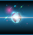 global and stars communication technology vector image