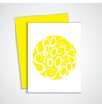 Lettering element in yellow color vector image vector image