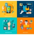 Smart technology set vector image