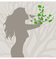 girl tree arm vector image