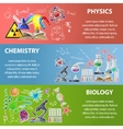 Science Banner Set vector image vector image