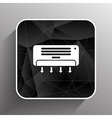 Air Conditioner Temperature icon celsius cold vector image