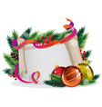 Christmas wreath with bright baubles vector image