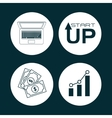 Start up icons design vector image