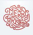 Merry Christmas Type 1 vector image vector image