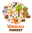 animals of forest part 1 vector image