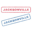 jacksonville textile stamps vector image