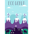 Eco green world concept vector image vector image