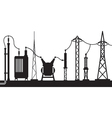 Electrical substation scene vector image vector image