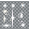 Lens flare set with transparent easy replace vector image