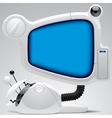 Futuristic electronic gear vector image