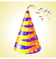 Birthday hats background vector image