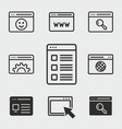 browser icons set vector image