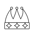 Crown decorative drawing isolated icon vector image