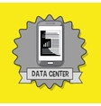 data center smartphone icon vector image