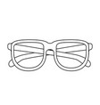glasses icon with black contour vector image