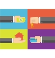 Purchasing concept on flat design vector image
