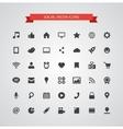 Set of modern flat design social media icons vector image