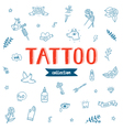 Tattoo doodles collection vector image