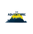 Adventure cute lettering text watercolor vector image