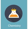 Chemistry Flat Concept Icon vector image