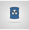 Radioactive waste barrel vector image