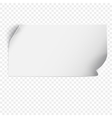 Sheet of paper template vector image