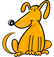 Cartoon doodle of funny dog vector image