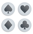 Casino simple icon card suits vector image