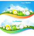 Easter colored backgrounds vector image