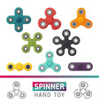 fidget spinner icons vector image
