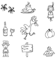 Hand draw element thanksgiving in doodle vector image
