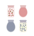 Jam in jars vector image