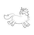 lovely unicorn crown animal horned fantasy vector image