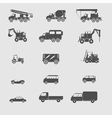 monochrome set with transportation icon vector image