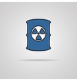 Radioactive waste barrel vector image