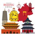 Travel Beijing China vector image