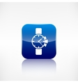 Watchclock iconApplication button vector image