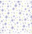 winter christmas seamless pattern texture with vector image