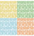 Set of seamless patterns with tulips vector image