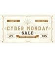Cyber Monday Sale Retro Background vector image vector image
