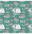 Decorative sea background vector image vector image