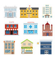 flat design house buildings administrative vector image vector image